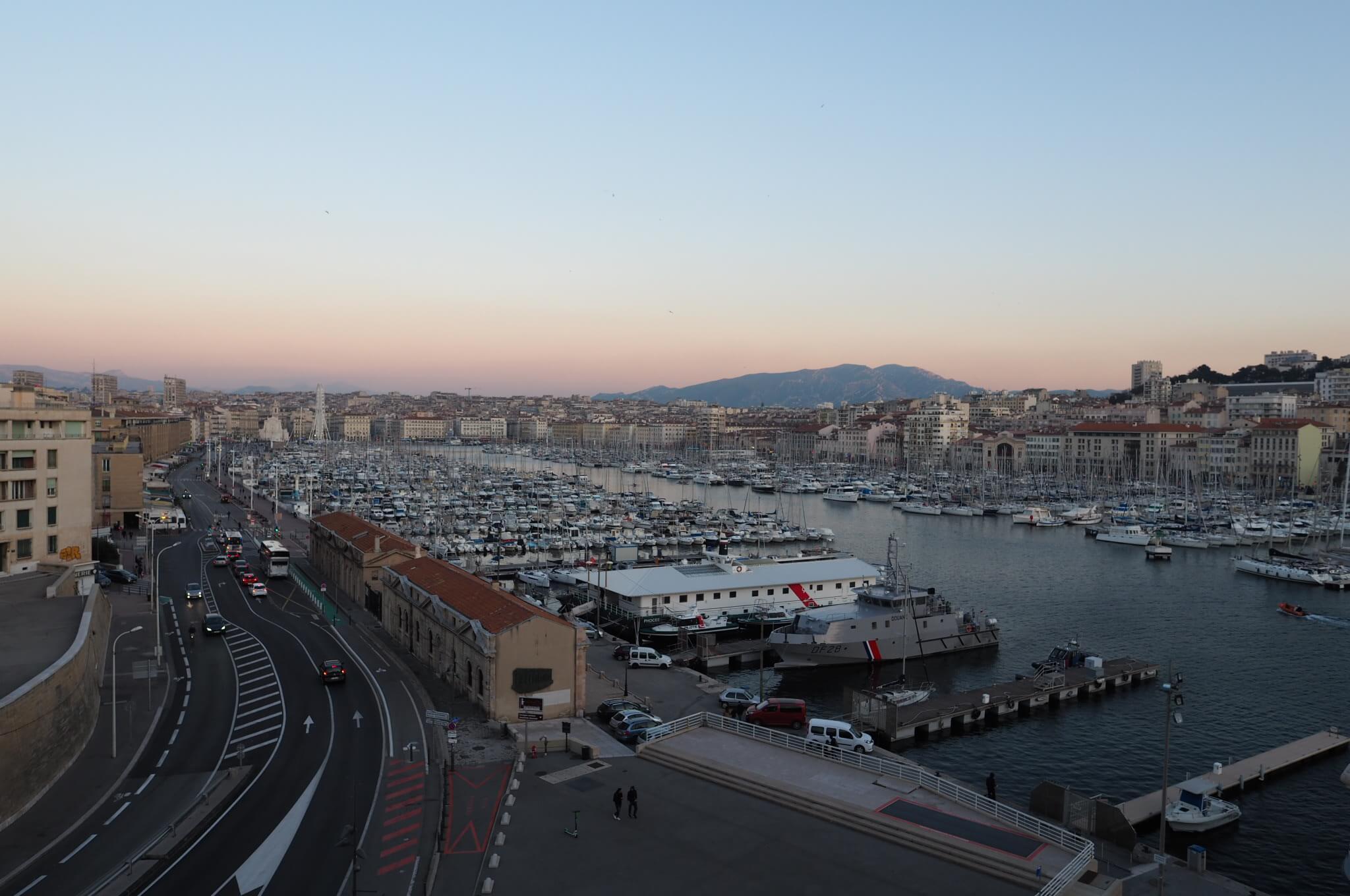 マルセイユの漁港