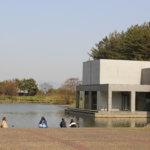 ランドスケープと建築の対比と親密性「土門拳記念館」